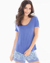 Soma Intimates Boxy Pajama Tee Baja Blue