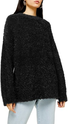 Topshop Longline Boucle Sweater