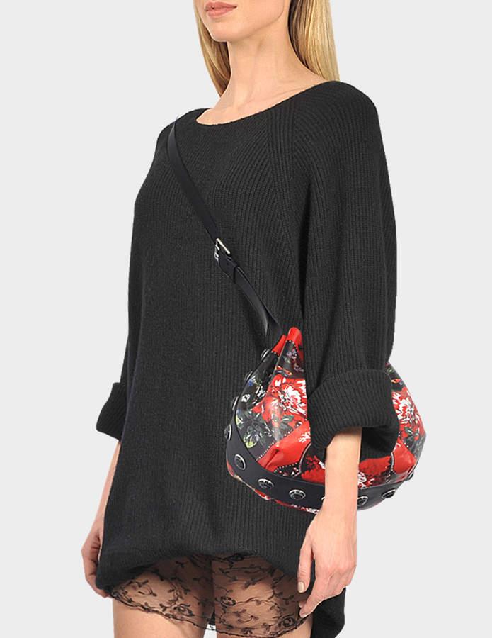 Alexander McQueen Poppies drawstring bag