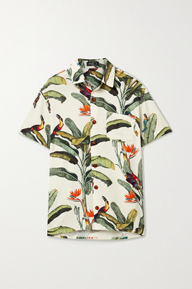 PatBO Printed Voile Shirt - Off-white
