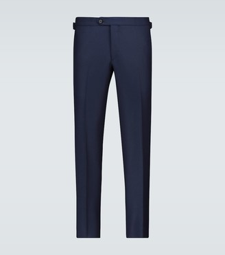 Hopsack wool pants