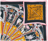 Faliero Sarti skeleton print scarf