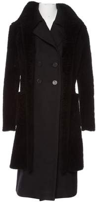 Celine Black Leather Coats