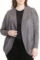 Lauren Ralph Lauren Plus Elzie Geometric Open-Front Cardigan