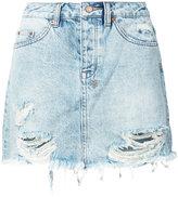 Ksubi frayed denim skirt - women - Cotton - 28