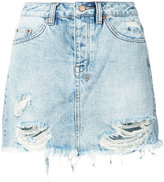 Ksubi frayed denim skirt