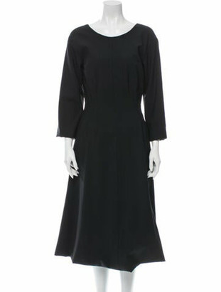 Dolce & Gabbana Virgin Wool Midi Length Dress w/ Tags Wool