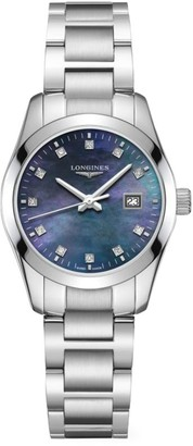 Longines Conquest Classic 29MM Diamond Stainless Steel Automatic Watch