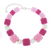 Gloria Vanderbilt Womens Pink Collar Necklace