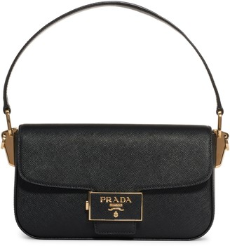 Prada Lux Saffiano Leather Baguette Bag