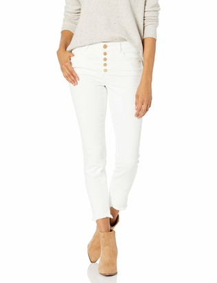 Democracy Women's Ab Solution Exposed Button Ankle Length Jean