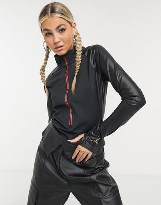 Jordan Nike CTR long sleeve bodysuit in black
