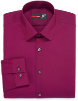 Jf J.Ferrar Easy-Care Solid-Big & Tall Long Sleeve Broadcloth Dress Shirt