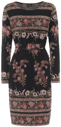 Etro Belted wool-blend dress