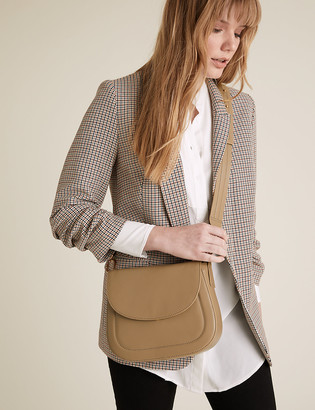 Marks and Spencer Leather Saddle Cross Body Bag