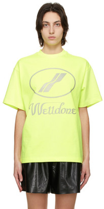 we11done Yellow Reflective Logo T-Shirt