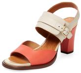 Chie Mihara Zakuro Bicolor Leather Sandal
