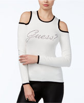 GUESS Holly Cold-Shoulder Graphic Top