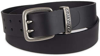 Dickies Leather Men's Belt with Double Prong Buckle
