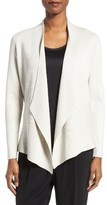 Eileen Fisher Women's Silk & Organic Cotton Angle Front Sweater Jacket
