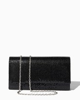 Charming charlie Polished Mesh Flap Clutch