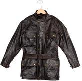 Belstaff Boys' Leather Roadmaster Jacket
