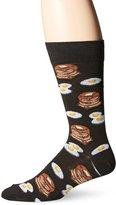 Hot Sox Men's Pancakes & Eggs Crew Casual Sock