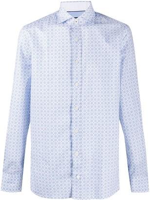 Hackett Tile-Print Long Sleeved Shirt
