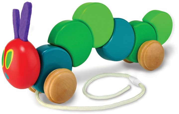 "Kids Preferred The World of Eric Carle ""The Very Hungry Caterpillar"" Wood Pull Toy"