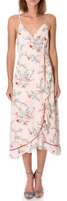 If By Sea Floral Midi Wrap Dress
