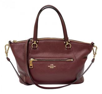 Coach Prairie Satchel Burgundy Leather Handbags