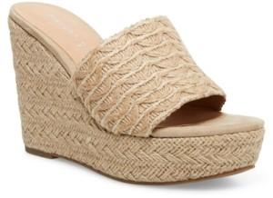 Madden-Girl Graciee Raffia Platform Wedge Sandals