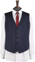 Burton Mens Big & Tall Navy Essential Stretch Tailored Fit Waistcoat