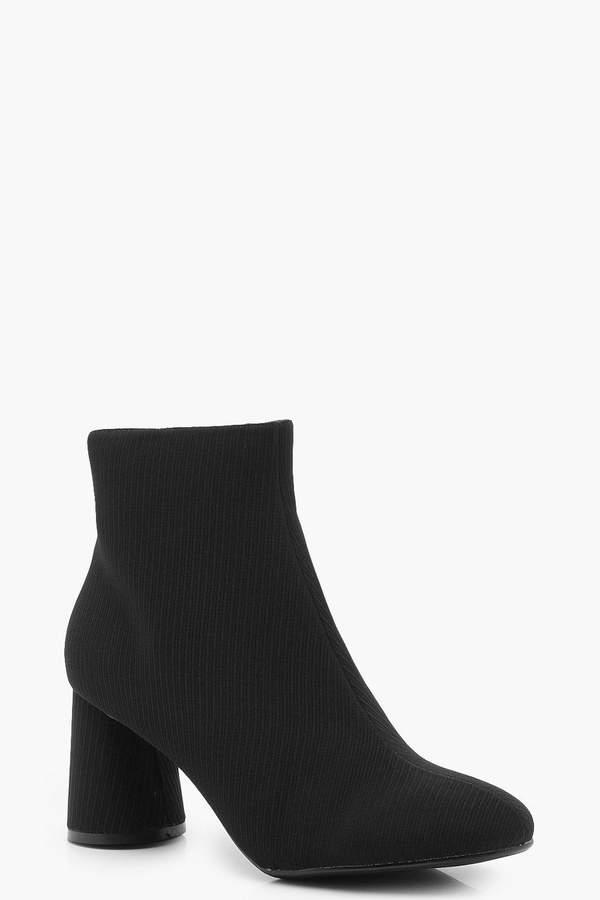 boohoo Cylinder Heel Shoe Boots