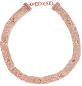 Carolina Bucci Woven 18-karat Rose Gold Sapphire Choker - one size