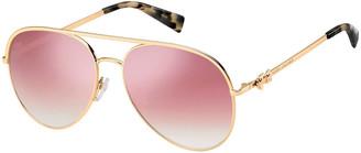 Marc Jacobs The Daisy 2S Mirrored Aviator Sunglasses