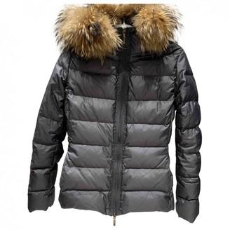 Moncler Fur Hood Grey Coat for Women