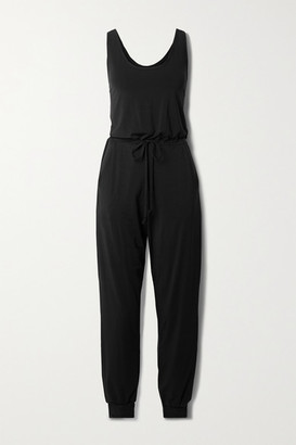 Commando Butter Stretch-jersey Jumpsuit - Black