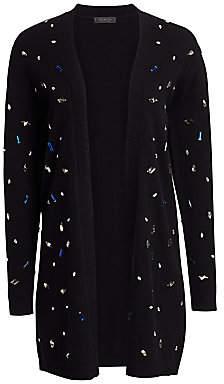 Saks Fifth Avenue Women's Scattered Jewel Wool Duster Cardigan