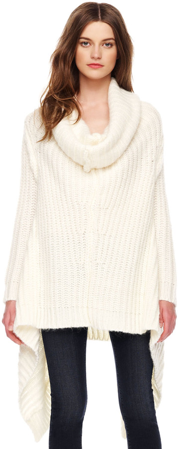Michael Kors Handkerchief-Hem Knit Sweater