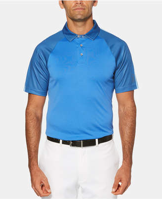 PGA Tour Men Big & Tall Performance Stretch Moisture-Wicking Birdseye-Print Raglan-Sleeve Golf Polo