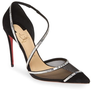 Christian Louboutin Chiara Embellished Pointy Toe Pump
