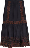 See by Chloe Broderie anglaise printed cotton maxi skirt