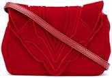 Elena Ghisellini envelope crossbody bag - women - Velvet - One Size