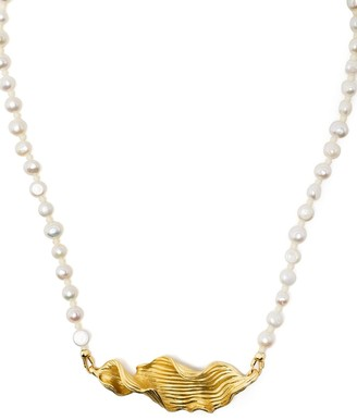 Anni Lu Seaweed pearly necklace