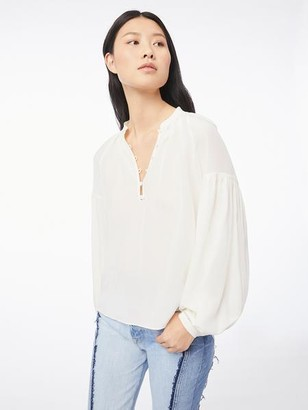 Frame Silk Billow Long Sleeve Top