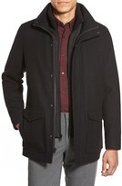 Vince Camuto Men's Stadium Coat With Removable Bib