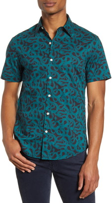 Bonobos Slim Fit Snake Print Short Sleeve Button-Up Shirt