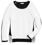 Design History Girls' Color Block Sweater - Big Kid