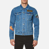 Kenzo Denim Applique Patch Jacket Navy